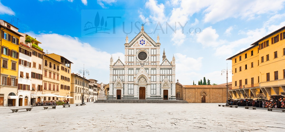 Piazza Santa Croce Florence Tuscany Square Of The Holy